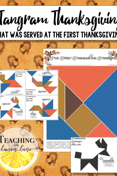 The First Thanksgiving Tangrams