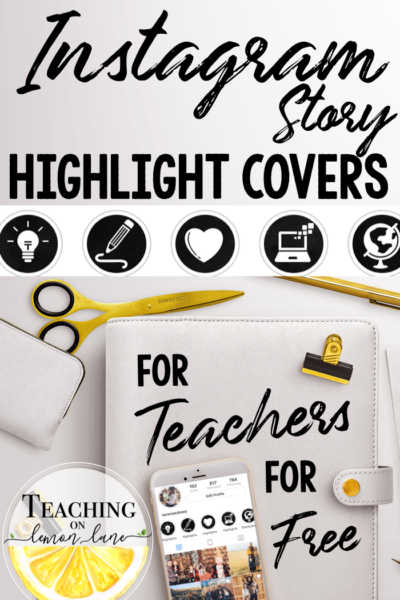 Free Teaching Instagram Highlight Icon Covers