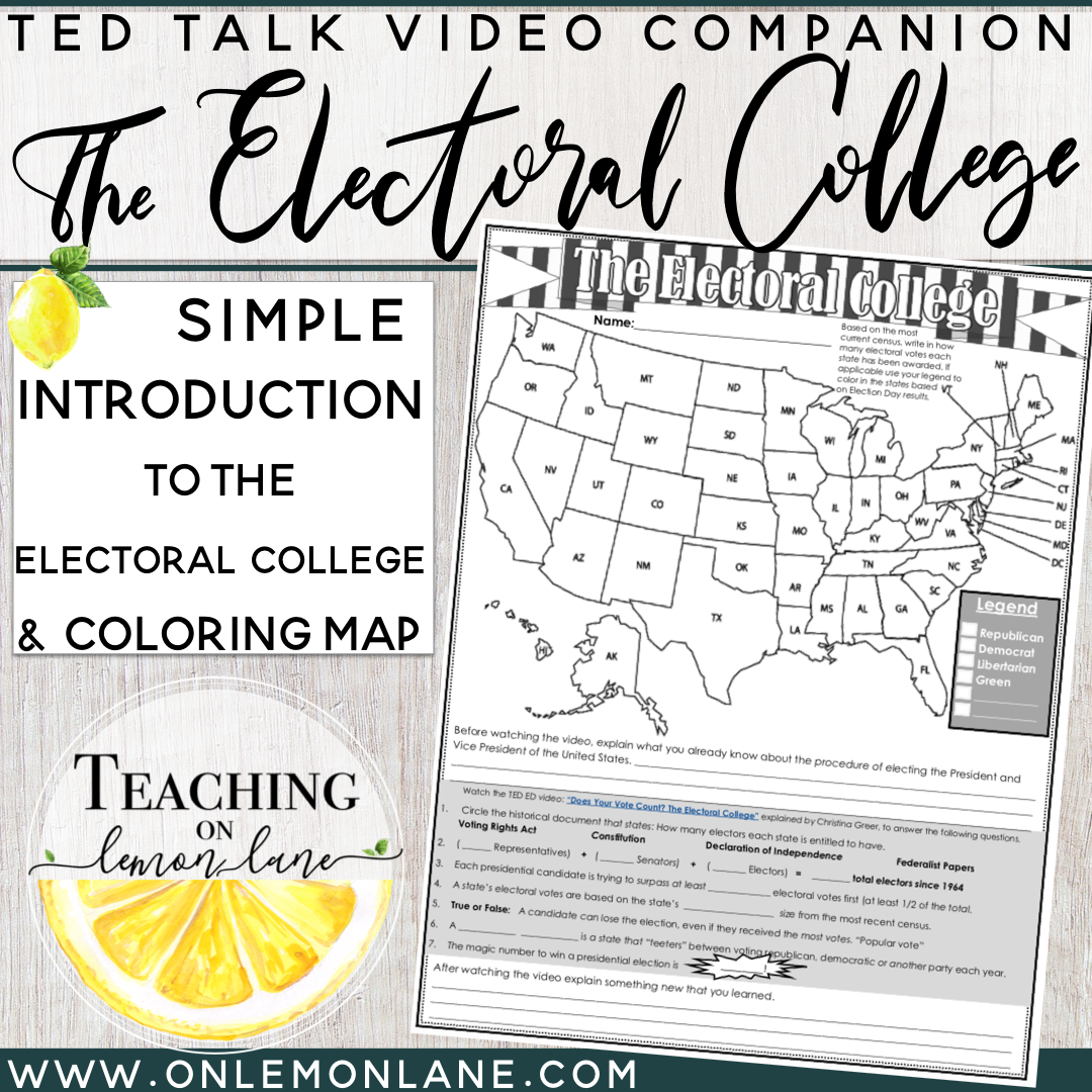 It is an image of Slobbery Electoral College Coloring Map