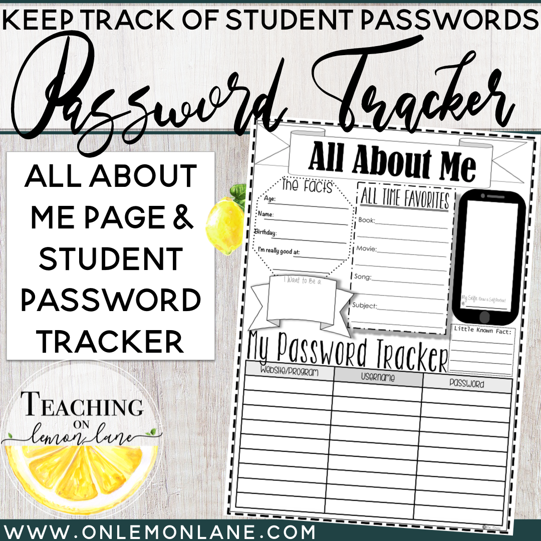 image about Password Tracker called All More than Me and Laptop or computer Pword Tracker Sheet