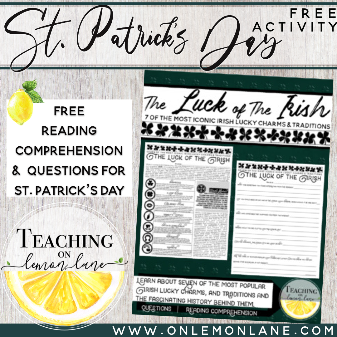 - Luck Of The Irish Free St Patricks Day Activity Reading