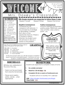 Meet the Teacher & Classroom Information Forms for Back to