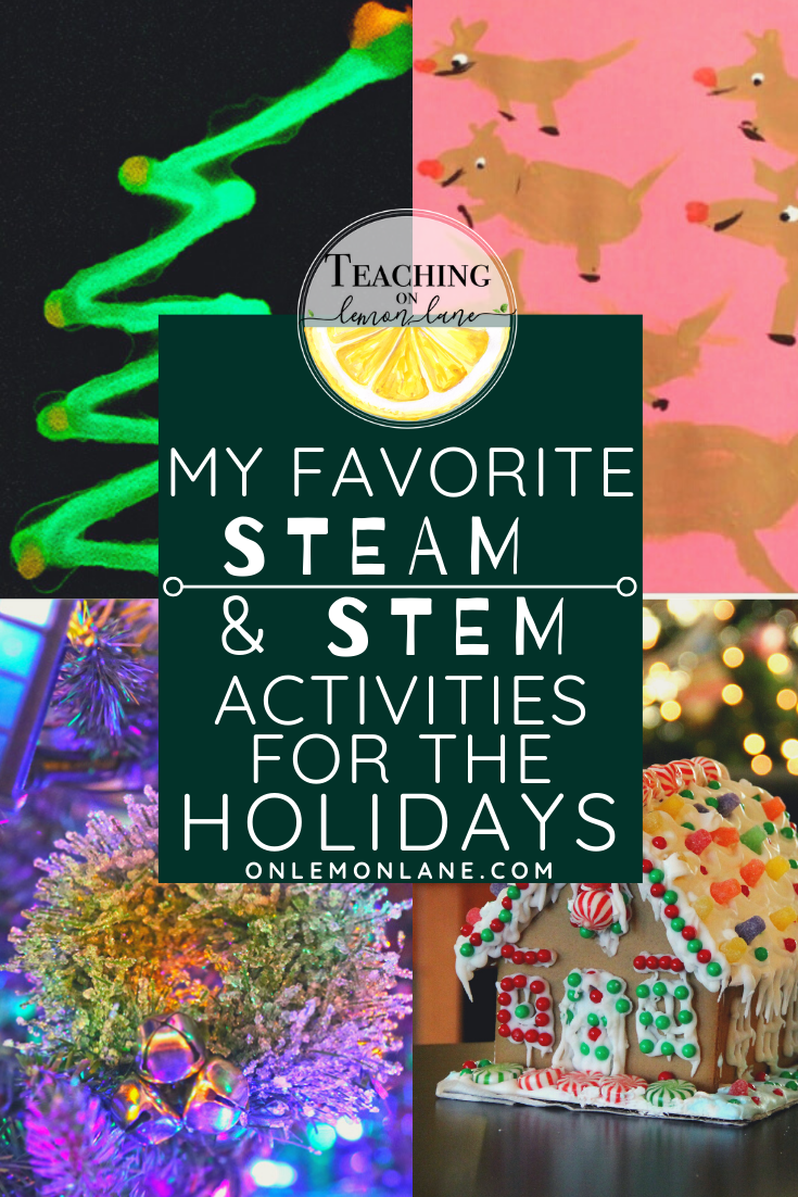 Steam and Stem Ideas for the classroom for Christmas and Holidays Classroom